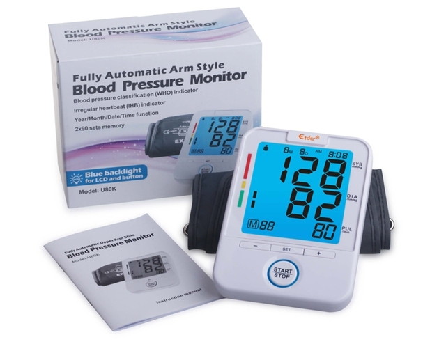 Arm Blood Pressure Pulse Monitor Health care Monitors Digital Upper Portable Blood Pressure Monitor meter sphygmomanometer