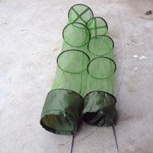5 Layers Collapsible Fish Shrimp Minnow Fishing Bait Trap Dip Net Cage 120x30cm