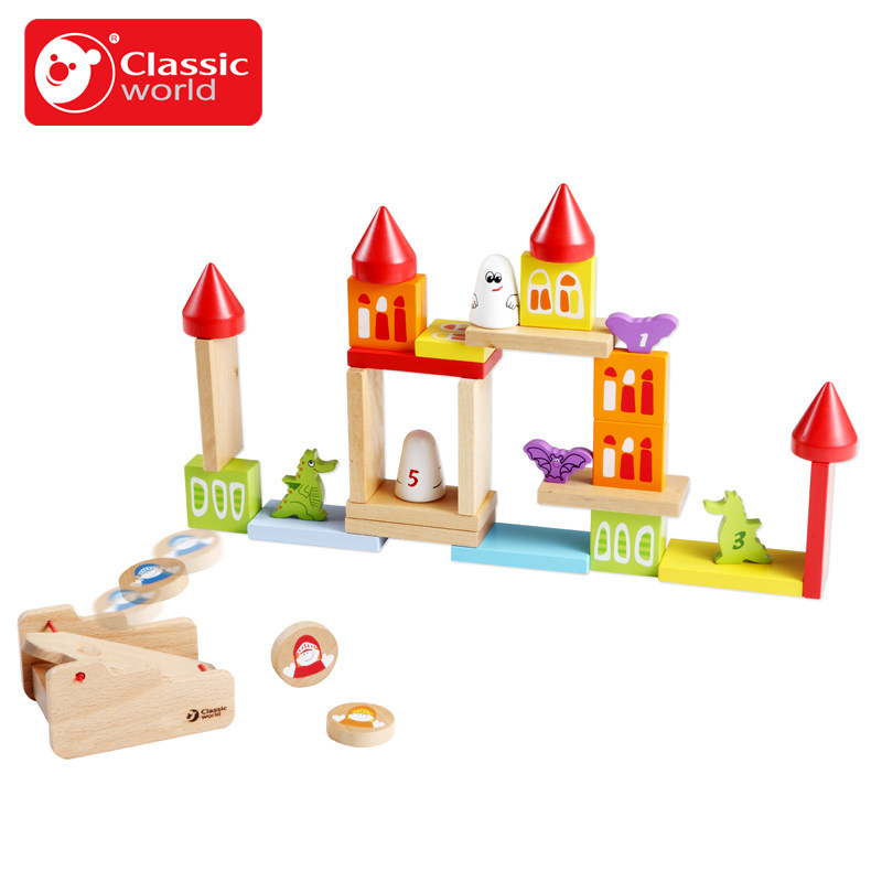 Classic World Kindom wooden Color Building Blocks Children's Toy For Color & Shape Identification Exerciseand classic world транспорт