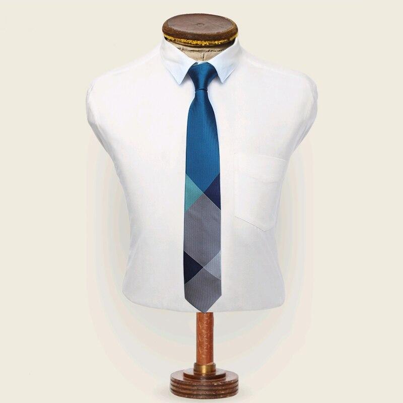 JEMYGINS Original New Designs Fashion Plaid Tie Brand Silk Checked Men Necktie High Quality Neck Tie For Your White Shirt