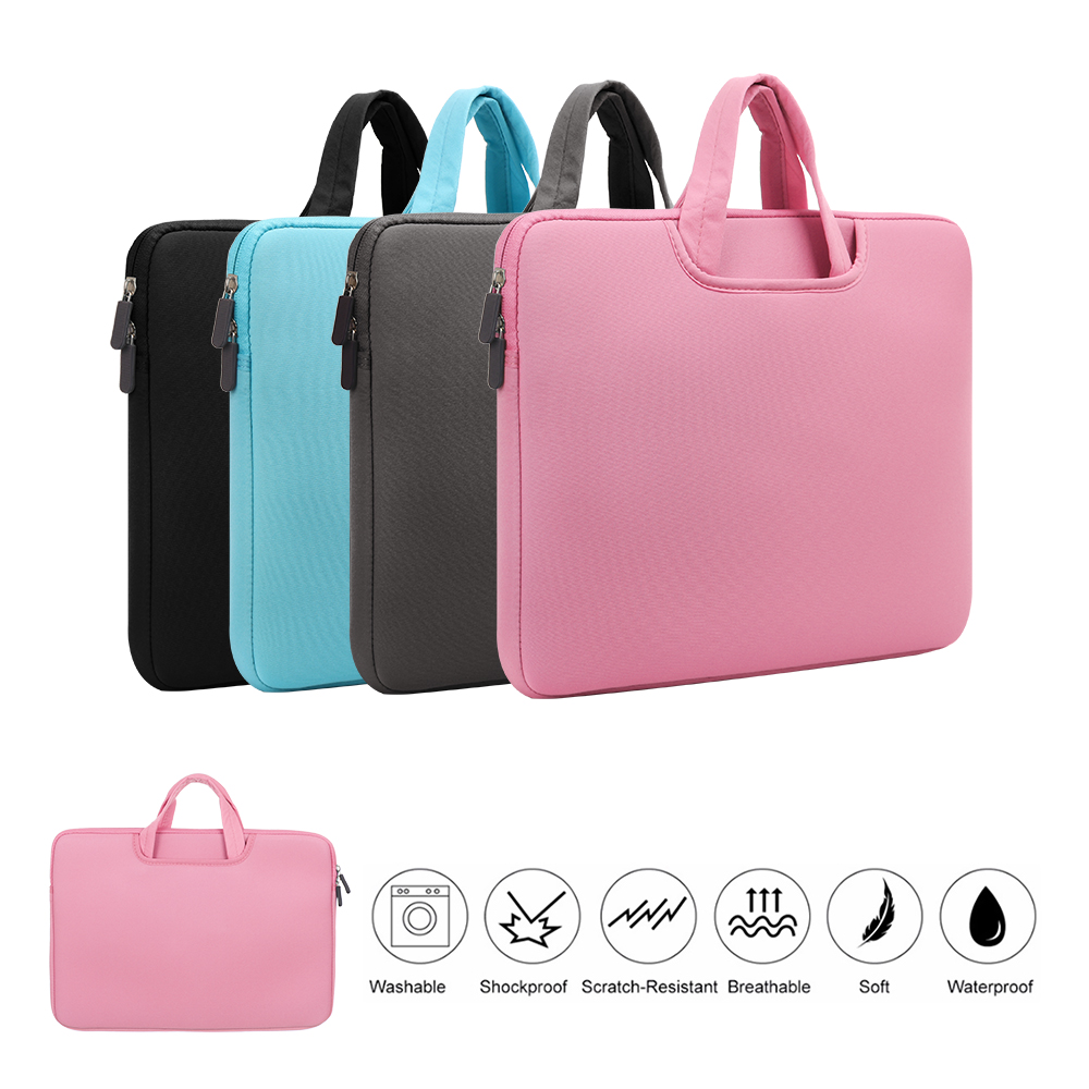 Image 2 - 11 13 14 15 15.6 inch Laptop Bag Computer Sleeve Case Handbags Dual Zipper Shockproof Cover For Laptop MacBook Air Pro Retina-in Laptop Bags & Cases from Computer & Office