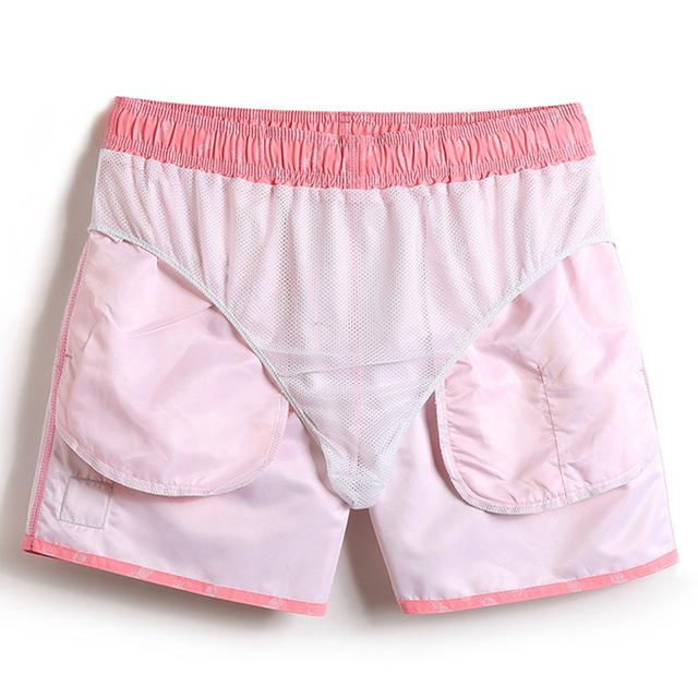 Gailang Brand Men Beach Shorts Casual Man Boxer Trunks Bottom Swimwear Swimsuits Elastic Waist Quick Drying Board Shorts Bermuda