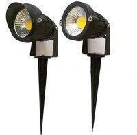 10pcs IP65 Outdoor Landscape LED Lawn Light Lamp 220V 110V 7W COB Garden Spot Light Spike