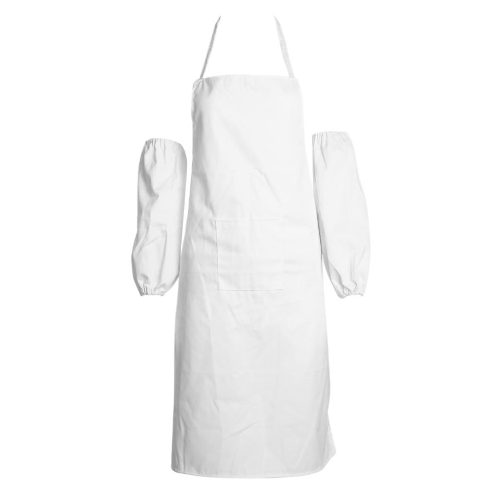 White apron austin - Universal Unisex Bib Apron With One Pocket Chef Restaurant Cooking Aprons Prevent Oil Spilling Folding Quick