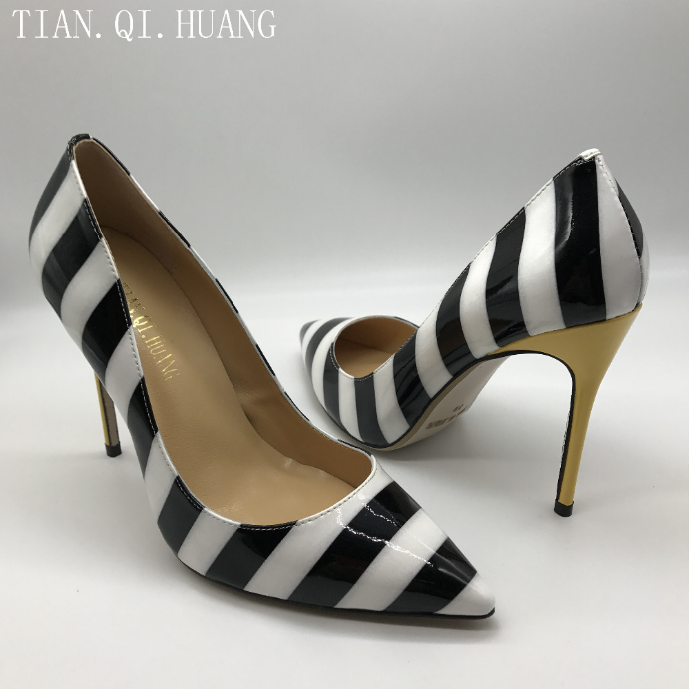 New Arrival Design High Heels Shoes Women Pumps Sexy Casual High Quality Fashion Genuine leather Shoes Woman TIAN.QI.HUANG 1