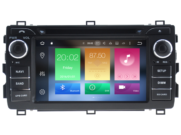 Octa 8 Core Android 6 0 font b CAR b font DVD player FOR TOYOTA AURIS