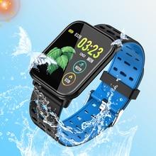 цена Men Sport Smart Bracelet Women Fitness Wristband LED Waterproof Heart Rate Blood Pressure Pedometer Bluetooth Clock  Smart Watch онлайн в 2017 году
