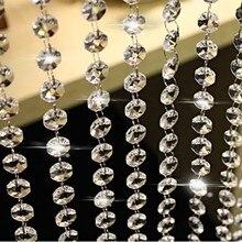 Guirlande suspendue en perles de cristal, en acrylique, 10m, suspension, décoration de maison, décoration de fête de mariage, noël