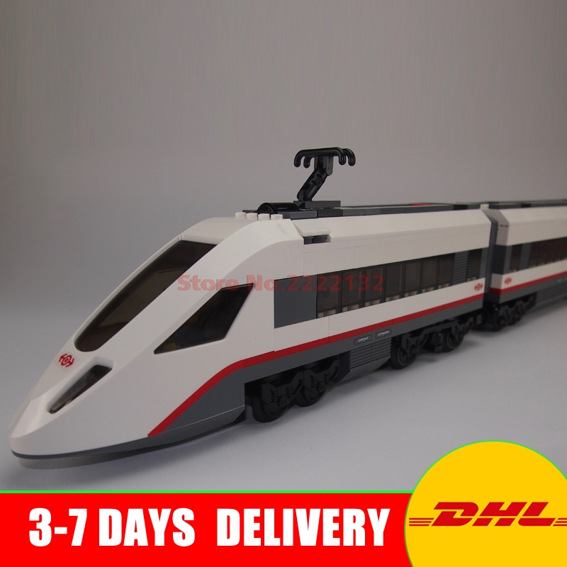 IN Stock Lepin 02010 New Series The High-speed Passenger Train Remote-control Trucks Building Blocks Bricks Toys 60051 lepin 02010 610pcs city series building blocks rc high speed passenger train education bricks toys for children christmas gifts