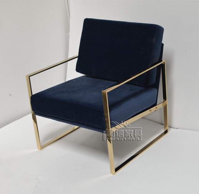 Simple And Stylish Stainless Steel Sofa Chair Modern Lounge Chair Single  Chair IKEA Bedroom Home Armchair
