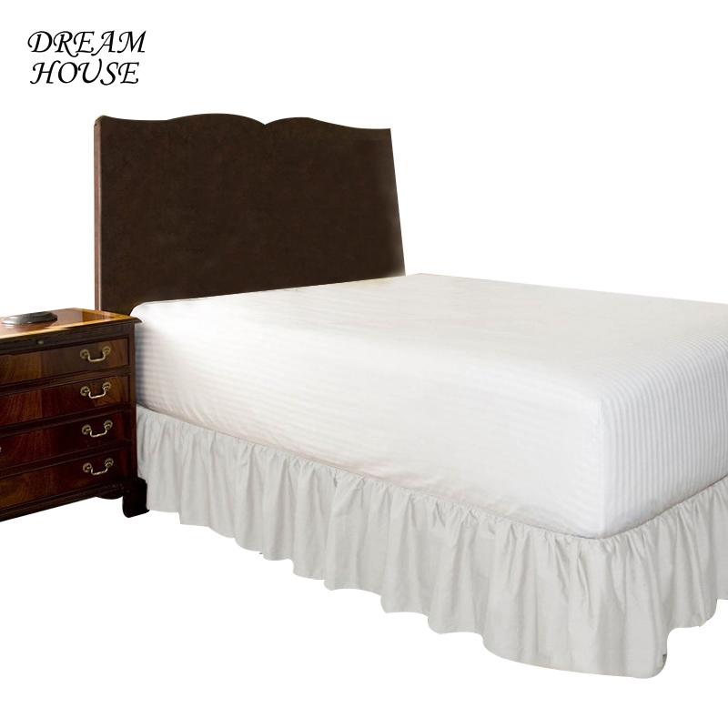 Bed Skirt King Queen Size for Wedding Decoration Home Elastic Bed Skirt Without Surface Bed Cover Bedspread Bedroom Bedsheet