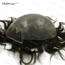 Remy Human Mens Toupee Swiss Lace Front Thin Skin Wig Sistem Hair Skins Hair Replacement Tesoura Cortar Cabelo H087