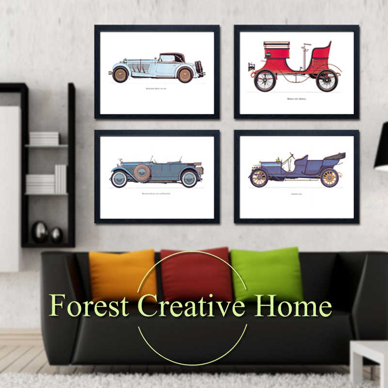 Retro Classic Cars Canvas Oil Painting Wall Pictures Home Decor Wal Art  For Living Room Posters Prints Modern Art Painting