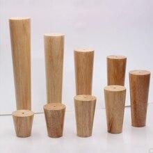 Pata de muebles inclinada fiable de altura de madera de roble con placa de hierro sofá Mesa armario pies juego de gambe mobilin legno
