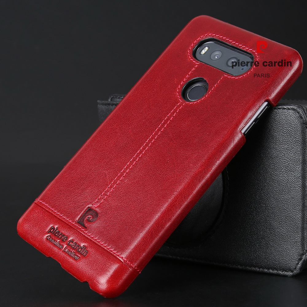 Pierre Cardin Dijahit Kulit Asli Kasus Untuk LG V20 V10 G4 G5 Hard - Aksesori dan suku cadang ponsel - Foto 6