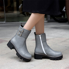 Spring Autumn Winter Women Ankle Boots Low Med Heel Woman Short Boots botas High Quality Plus Size 34 – 40 41 42 43
