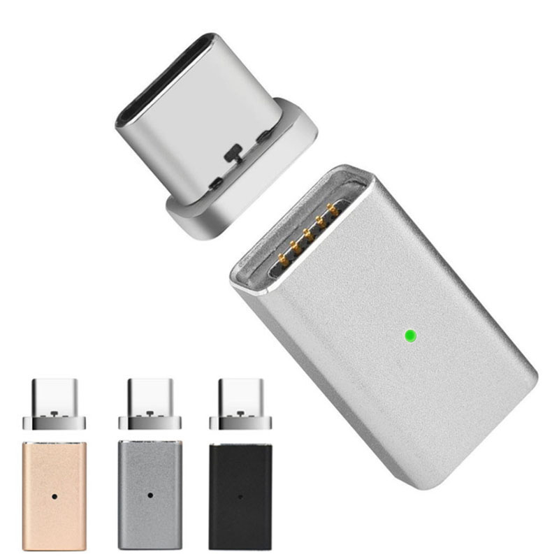 Magnetic Micro USB Female To Type C Male Charger Converter Adapter For Nexus 5X,6P,OnePlus 2 3 3T 5,Xiaomi USB-C Devices