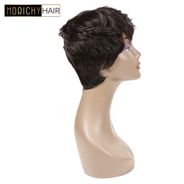 MORICHY Short Human Hair Wigs For Black Women Pixie Cut Human Hair Wig Brazilian Straight Wig Natural Black Short Straight Wigs 2