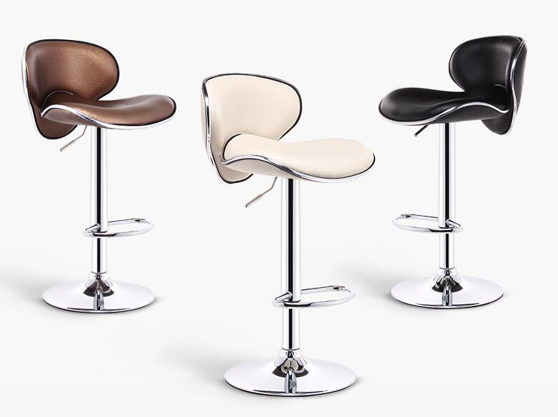 Objective Bar Chair Lifting Chair Front Bar Stool Modern Simple Bar Chair Bar Stool High Stool Back Stool