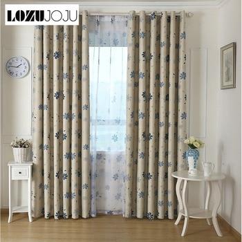 Cortinas con diseño Floral LOZUJOJU para dormitorio, ventanas, cortinas largas y gruesas para sala de estar, tela de tul elegante de combinación pastoral