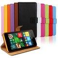 Бесплатная Доставка Подлинная Кожаный Бумажник Flip Case для Nokia Microsoft Lumia 640 XL 640XL Телефон Случаях Обложка с Держателем Карты