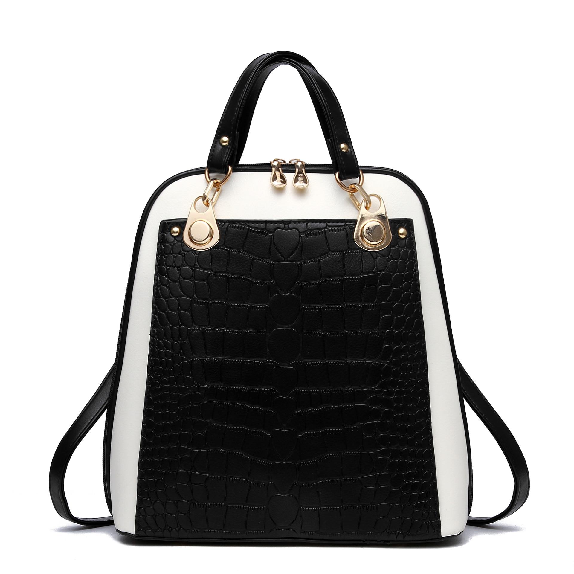 2016 Luxury Brand Backpack Alligator Women Female School Backpacks for Teenage Girls Mochila Mujer Sac a Dos