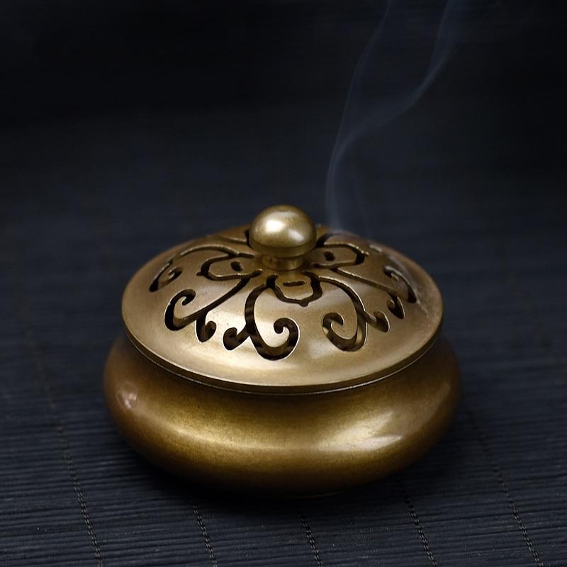 PINNY starožitné měď kadidlo buddhistické kadidlo držák vůně odstranění kovové řemeslo obývací pokoj kadidelnici domácí vůně
