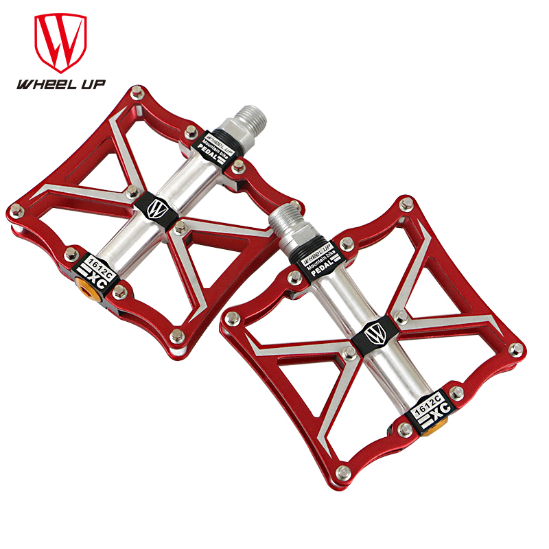 ФОТО WHEEL UP 3 bearings Aluminum bike pedals CNC bmx road mtb mountain cycle pedals bike parts top quality titanium 2017 new arrival