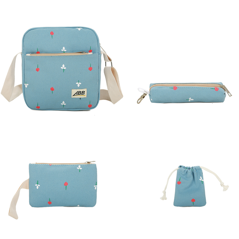fad336f5c Fashion Canvas 5 Sets Backpack Composite Bag Preppy Style School Bags  Female Backpacks For Teenage Girls Backpack Cute Bear Bag Tags: