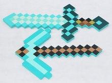 43f5dcf06 Nowe Zabawki Minecraft Minecraft Foam Pickax Pistolet EVA Zabawki Minecraft  Foam Diamentowy Miecz Broń Model Zabawki