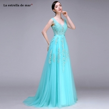 Maid of honor dresses for weddings new lace beaded sexy V neck A Line turquoise