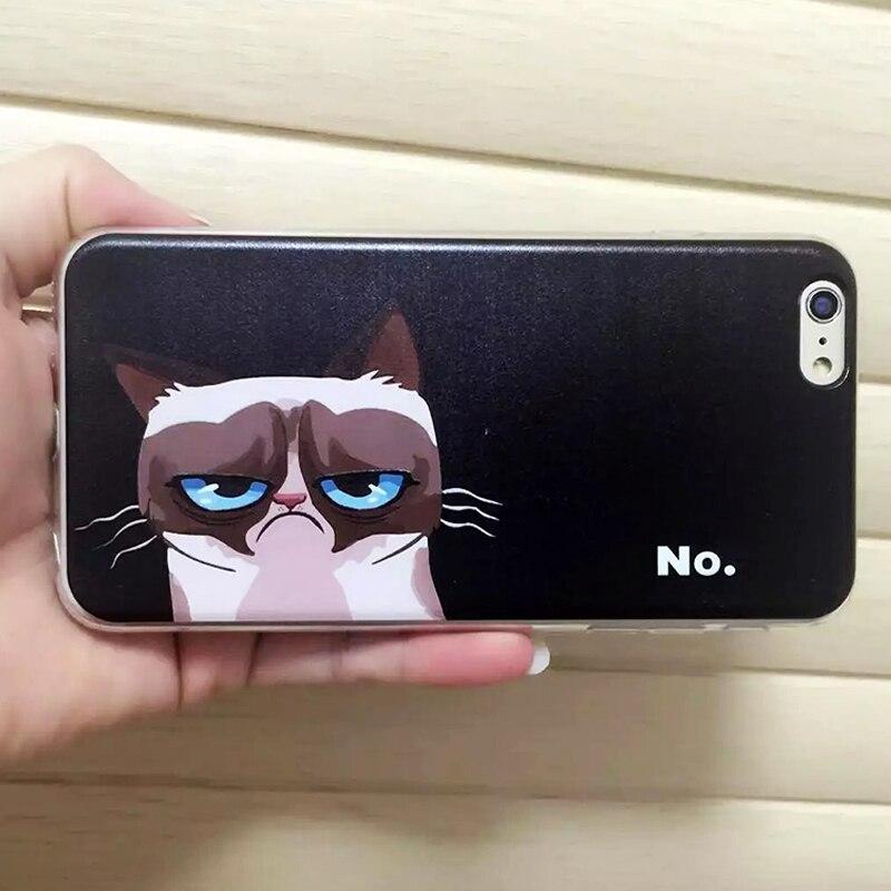 ¡ NUEVO! lindo Gato Caso de la Historieta Para el iphone Caso 5S Moda Soft TPU G