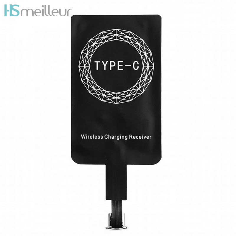 Hsmeilleur Type C Wireless Charging Receiver For Samsung Galaxy A5 2017 Huawei P20 Lite Mate 20 Pro USB C Phone Charger Receiver