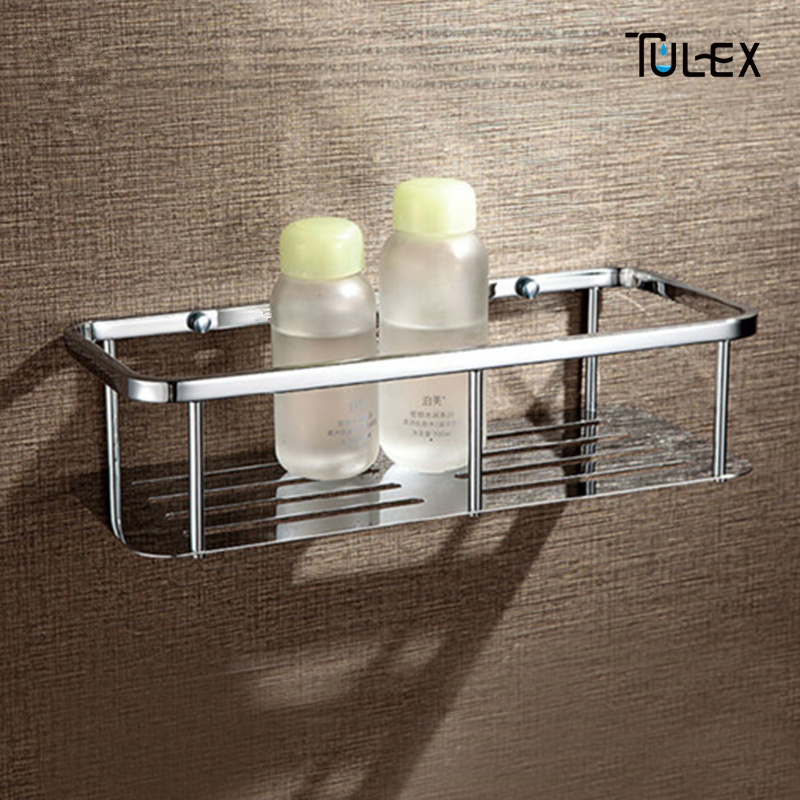 TULEX Bathroom Shelf Corner Shower & Shampoo Basket Stainless Steel Material bathroom shelf bathroom rack shower shelf dehub super suction cup wlla mounted bathroom corner shelf shower organizer corner bathroom shelf shower rack bathroom rack