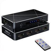 SGEYR 4x1 HDMI Switch 2.0 4 in 1 HDMI Switcher 4K 4 Port Ultra HD 4Kx2K@60Hz HDCP 2.2 HDMI Switch Box with IR Remote