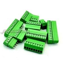 3.81 ММ плагин терминал прямо контактный или изогнутые pin KF2EDG-3.81 мужского и женского док 2-12 P 5 пара/лот