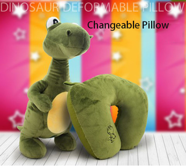 Новые Приходят Duable Использовать Мягкие Игрушки Чучела Динозавров Фаршированные Changebale U-образный Подушка для Шеи Freeshipping