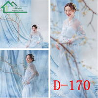 Blue Sweet Maternity Floral Lace Dress For Photography Props Ropa De Embarazo Photo Studio Shoots Summer