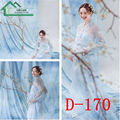 Blue Sweet Maternity Floral Lace Dress For Photography Props Ropa De Embarazo Photo Studio Shoots Summer Pregnancy Beach Dress