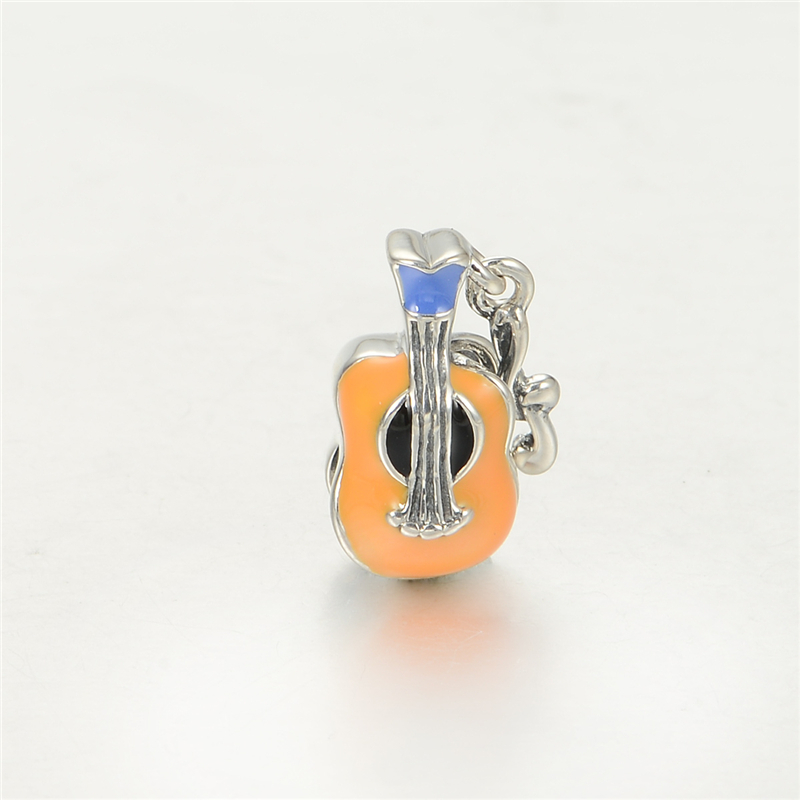 Pandulaso Enamel Violin Music Beads for Jewelry Making Fine DIY Fit  Charms Silver 925 Original Bracelets for Women Gifts