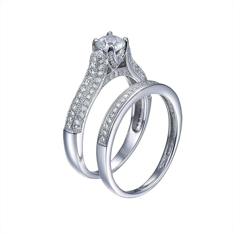 Liela izpārdošana 2016 100% 925 sudraba kāzu gredzeni. Īstas - Skaistas rotaslietas - Foto 3