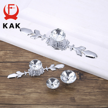 KAK Luxury Diamond Crystal Handles Shoebox Cabinet Handles Closet Door Drawer Knobs Wardrobe Pulls Pullers With Screws Hardware cheap Metalworking Crystal Glass NONE CN(Origin) KAK-6712 Furniture Handle Knob Others Modern Clear Crystal Silver Gold Black