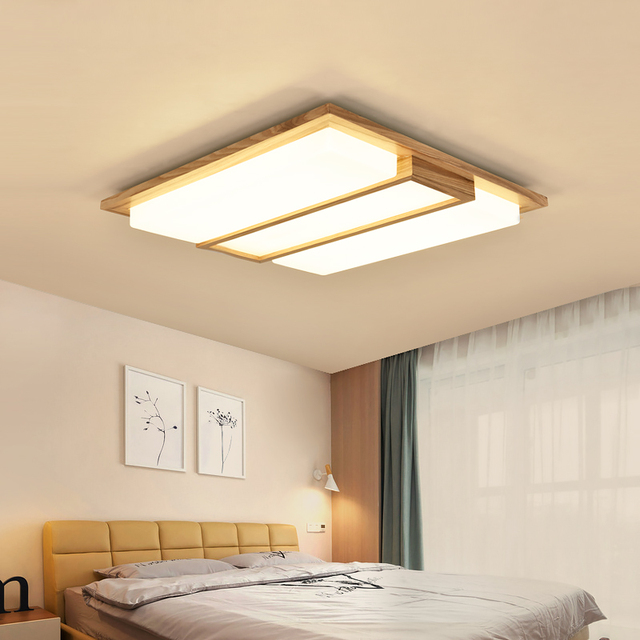 Rechthoek moderne led plafond verlichting slaapkamer woonkamer log ...