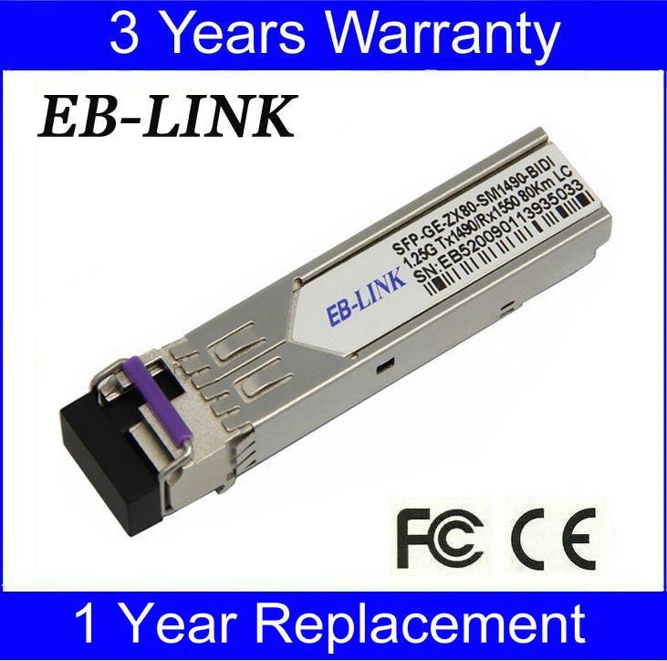 Cisco 호환 GLC-BX-U80, TX1490 / RX1550nm 1.25G 80km BIDI SFP 트랜시버 모듈