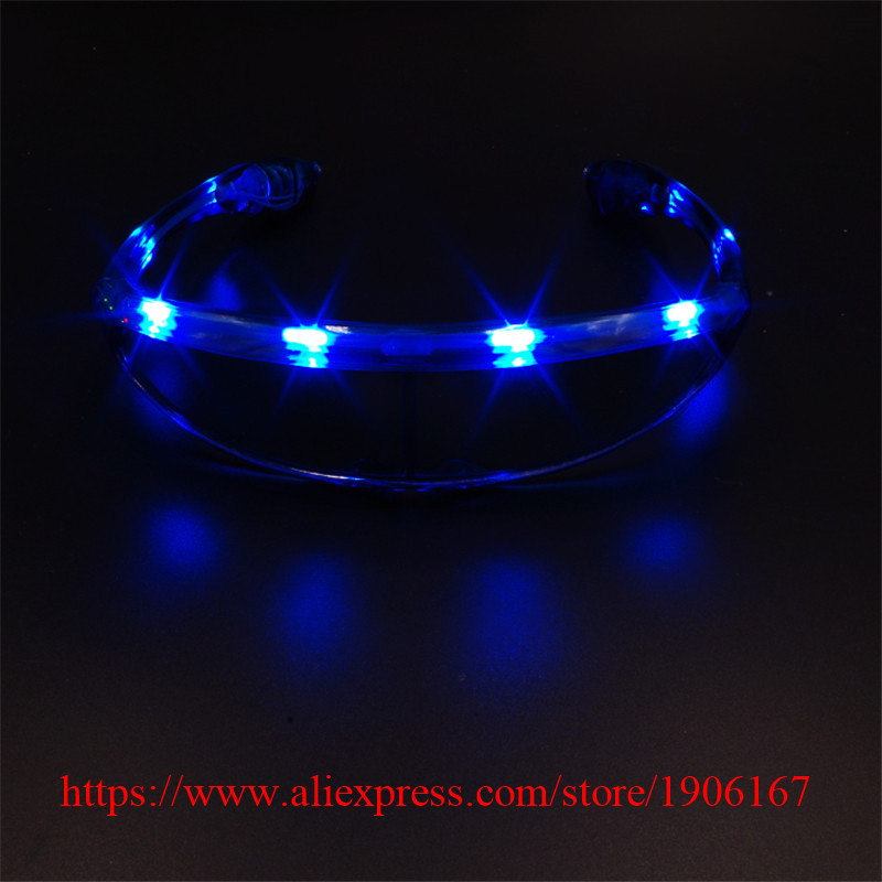 Fashion <font><b>Led</b></font> Luminous Party Glasses Light Up <font><b>LED</b></font> Glasses Classic Flashing Gift Event Supplies DJ Club Stage Show Eyewear
