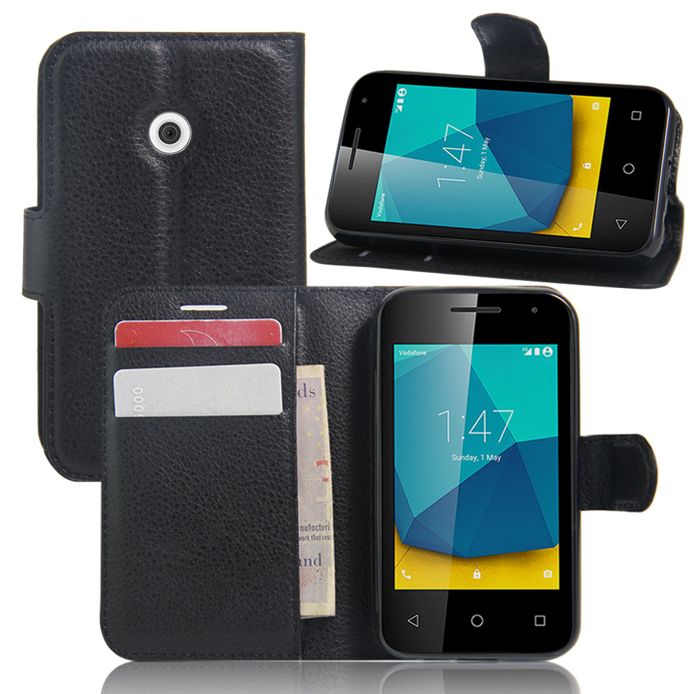 Vodafone Smart E9 Shockproof Pu Leather Wallet Flip Stand Magnetic Case Cover Cell Phone Accessories