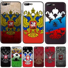 Silicone Tpu Phone Case Russian Flag Eagle for iPhone 11 Pro X XS Max XR iPhone 6 6s 7 8 Plus 5 5s SE Protection Cover(China)
