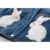 Bear leader 2016 inverno meninas denim casacos crianças roupas crianças jaquetas casacos manga comprida com capuz coelho imprimir roupas de menina