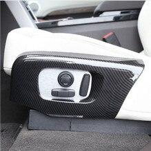 все цены на Carbon Fiber ABS Plastic Car Seat Side Frame Trim For Land rover Discovery 5 LR5 2017-18 For Range Rover Velar RR Sport 2018 онлайн