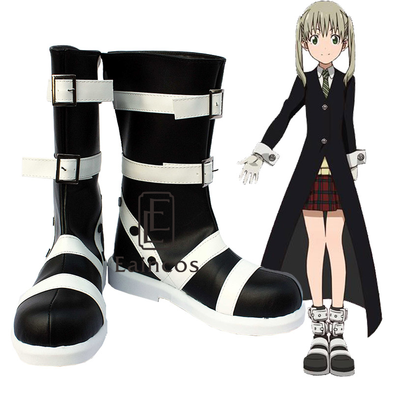 Anime Soul Eater Maka Albarn Cosplay Shoes Black Fancy Boots Custom Made